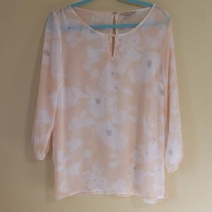 Banana Republic Sheer Floral Blouse